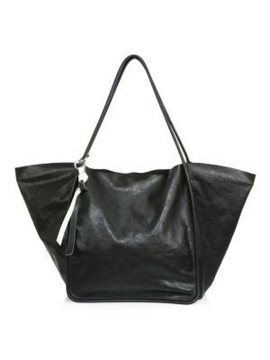 Extra-Large Super Glass Leather Tote Bag