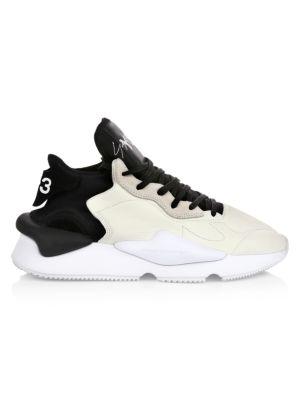 Kaiwa Mix Media Leather Chunky Sneakers