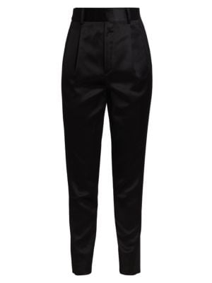 Satin Tapered Trousers