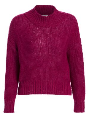 Wool-Blend Mockneck Sweater