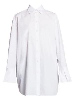 Double-Cuff Cotton Poplin Shirt
