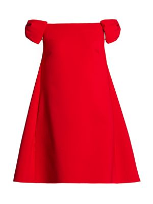 Rosso Capsule Off-The-Shoulder Shift Dress