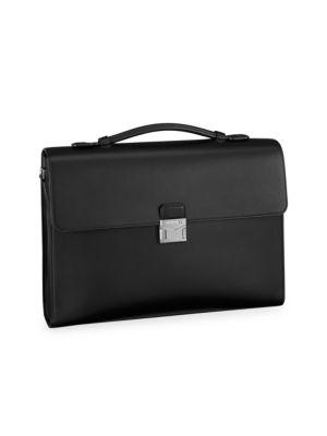 Meisterstück Urban Single Gusset Leather Briefcase