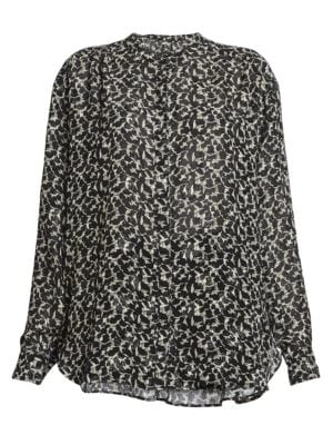 Daws Metallic Silk Blouse
