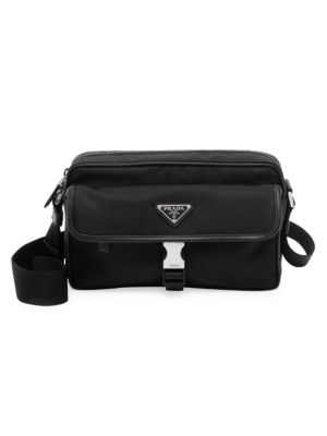 Tessuto & Saffiano Crossbody Bag