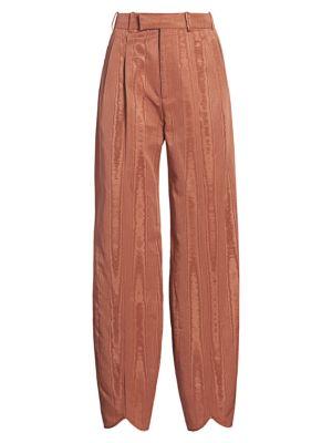 Moiré Tapered-Leg Trousers