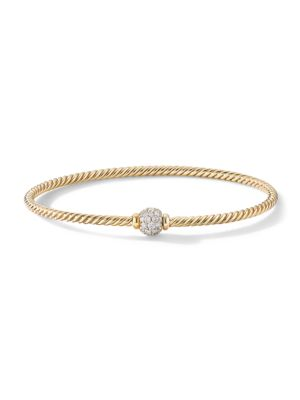 Solari Center Station Bracelet In 18K Yellow Gold With Diamonds