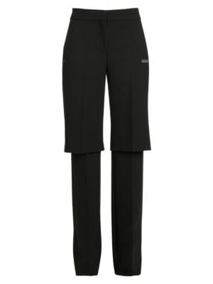 Formal Double-Layer Trousers