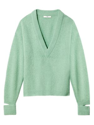 Airy Alpaca-Blend Sweater