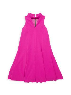 Girl's Rowan Choker-Neck Shift Dress