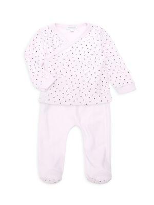Baby Girl's Two-Piece Pima Cotton Kimono Set