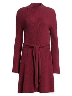 Abhaya Ribbed Tie-Waist Sweater Dress