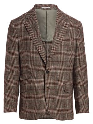 Wool & Cashmere Plaid Sportcoat