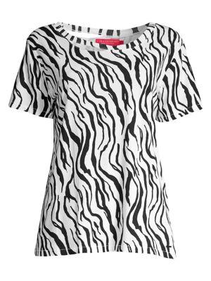 Harlow Zebra-Print Tee