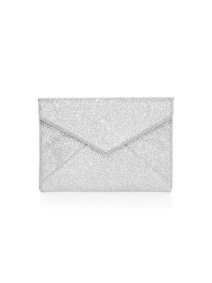 Leo Glitter Envelope Clutch