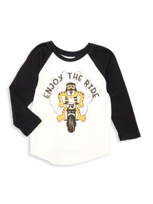 Little Boy's & Boy's Enjoy The Ride Raglan-Sleeve Tee