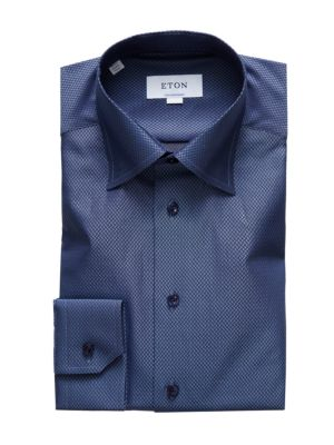 Contemporary-Fit Fancy Textured Dress Shirt
