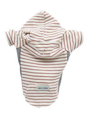 Dog's Stripe Rib-Knit Hoodie