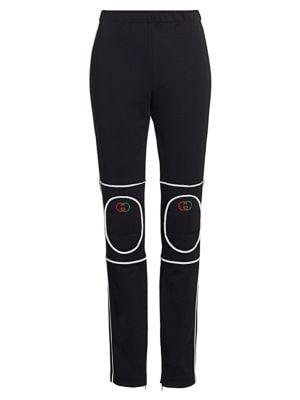 Technical Jersey Knee-Pad Leggings