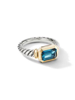 Novella Ring With Gemstone & 18K Yellow Gold