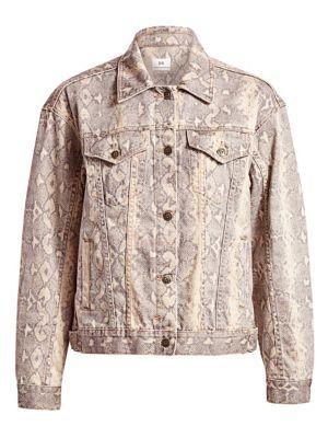 Oversized Kobra Denim Jacket