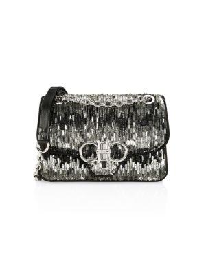 Medium Gancini Paillettes Shoulder Bag