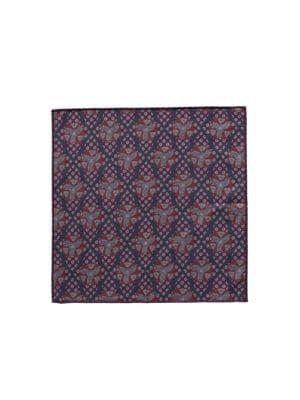 Geometric Wool Pocket Square