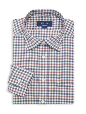 Soft Casual Contemporary-Fit Check Shirt