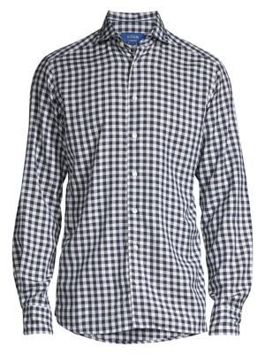 Contemporary-Fit Large Scale Gingham Shirt