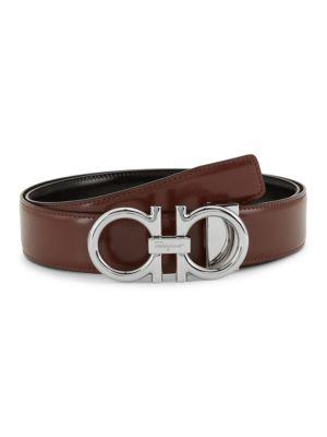 Shiny Double G Leather Belt