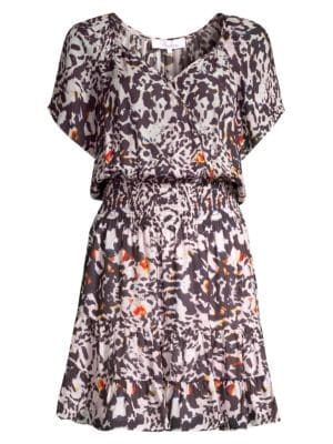 Augustine Animal Print Mini Dress
