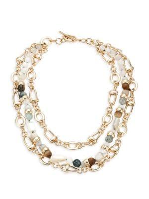 Multi Gemstone Statement Necklace