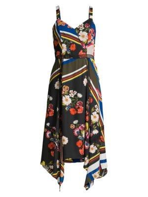 Ellenore Handkerchief Midi Dress