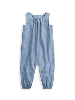 폴로 랄프로렌 남아용 아기 커버올 우주복 Polo Ralph Lauren Baby Boys Chambray Coverall,Blue