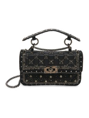 Valentino Garavani Small Rockstud Spike. It Embellished Leather Shoulder Bag