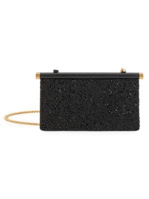 Valentino Garavani Small Carry Secrets Beaded Leather Clutch