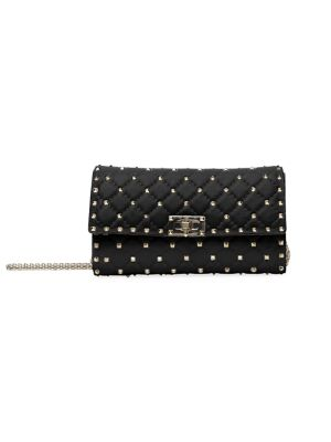 Valentino Garavani Rockstud Spike Leather Crossbody Clutch