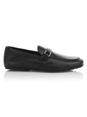 Sander Gancini Bit Leather Loafers