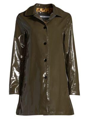 Faux Fur-Lined Rain Coat