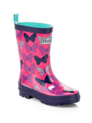 Baby's, Little Girl's & Girl's Spotted Butterflies Rain Boots
