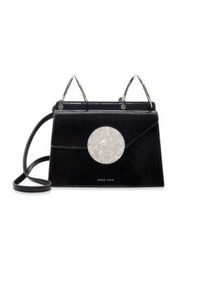Phoebe Bis Accordion Patent Leather Bag