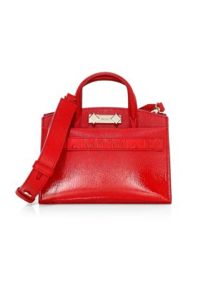 Mini Milano Patent Leather Tote