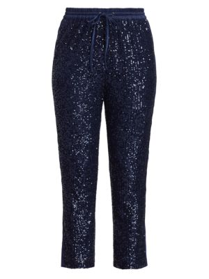 Conner Sequin Knit Combo Pants