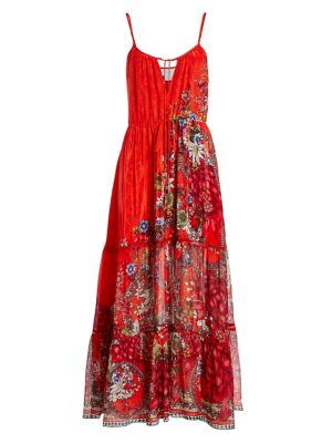 Mother Floral Tiered Maxi Dress