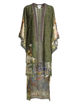 Floral Silk Kimono