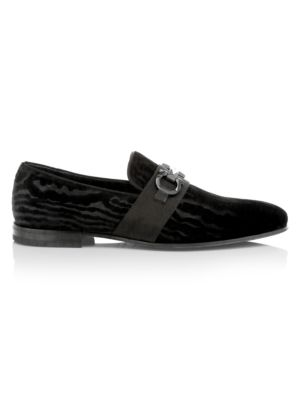 Schwartz Formal Slip-On Velvet Loafers