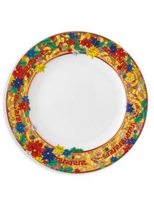 Holiday Alphabet Porcelain Salad Plate
