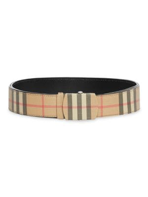 Burberry Vintage Check Leather Belt