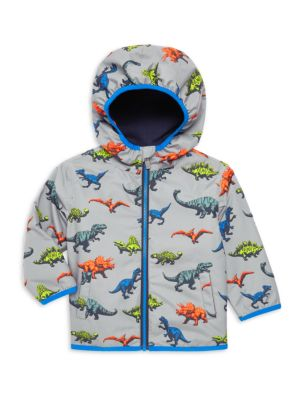 Little Boy's & Boy's Wild Dinos Rain Jacket