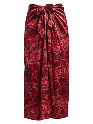 Silk Stretch Long Skirt